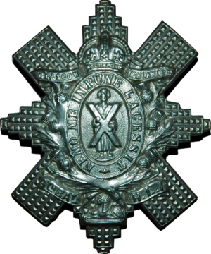 Glasgow Highlanders - Cap Badge of the Glasgow Highlanders