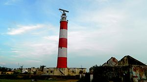 Gopalpur, Odisha - Gopalpur light House near Sea Beach.