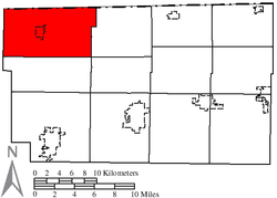 Location of Gorham Township in Fulton County