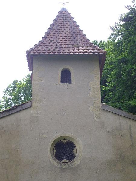 Saint Clement chapel of Gorze (Moselle, France). Ridge turret