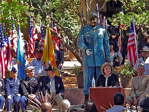 Susana Martinez - Martinez speaking at the unveiling of the statue of Leroy Petry, a Medal of Honor recipient, June 24, 2013