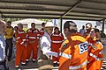 Governor-General of Australia, Quentin Bryce speaks with SES volunteers.jpg