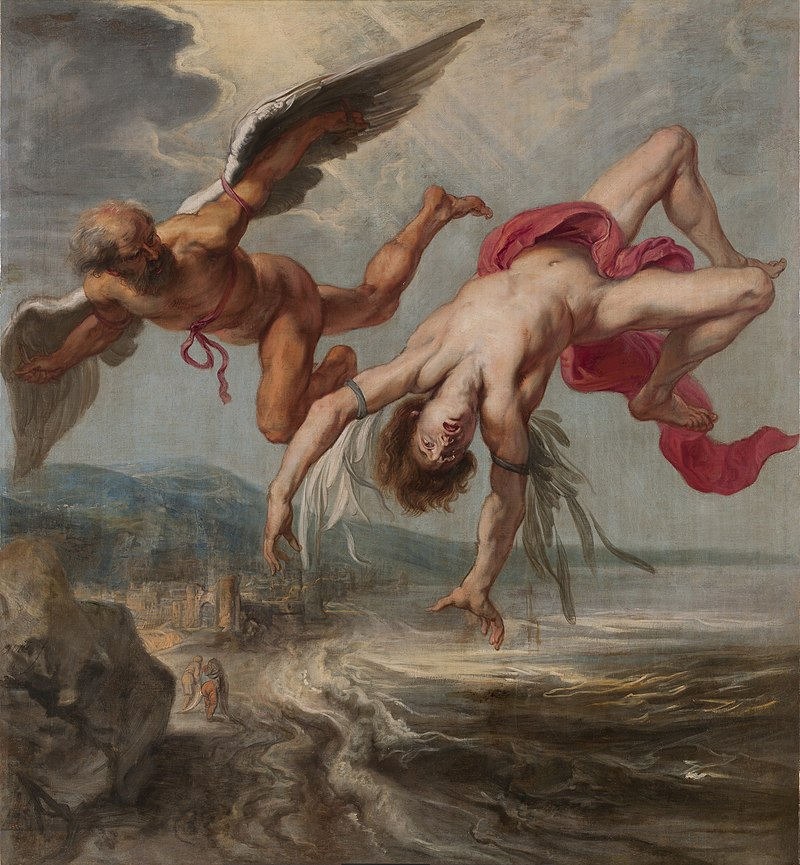 Gowry's painting of Icarus falling