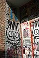 Graffiti in Shoreditch, London - Dscreet doorway (13822649334).jpg