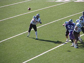 Greg McElroy - McElroy passes the ball for Carroll Senior High in 2005, during his senior season.