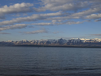 Greenland Sea - Eyjafjörður, the longest fjord in Northern Iceland, belongs to the Greenland Sea.