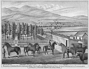 Conrad Kohrs - Kohrs Ranch in Deer Lodge, Montana, ca. 1885