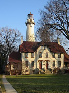 Grosse Point Light lighthouse in Illinois, United States