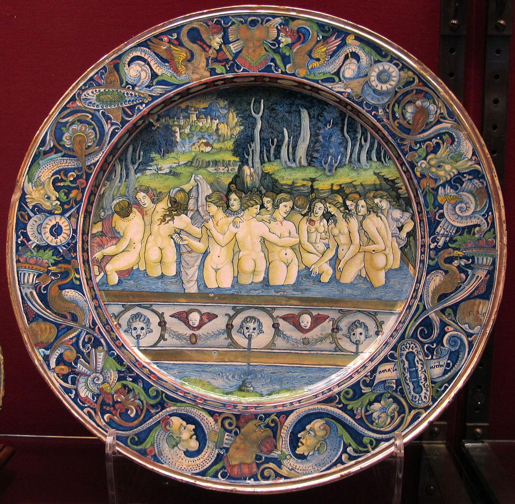 File gubbio maestro giorgio andreoli donne al bagno 6 apr 1525 jpg wikimedia commons - Ragazze al bagno ...