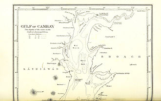 Gulf of Khambhat - Gulf of Cambay (North part) 1896