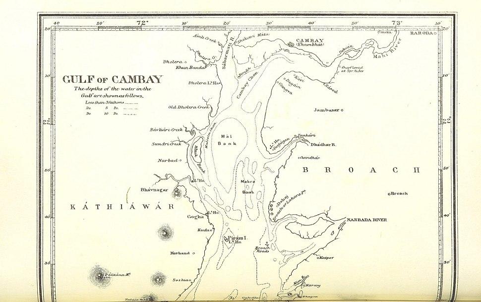 Gulf of Cambay (North part) 1896