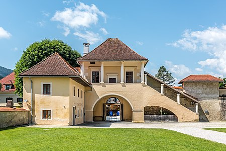 Manor and folwark complex at the monastery portal, Gurk, Carinthia, Austria