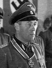 German officer in uniform