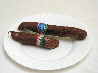 """Hungarian sausages - Hungarian """"Gyulai"""" kolbász"""