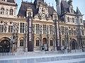 Hôtel de ville de Paris - Banderoles et panneau pour Charlie - P1340362.JPG