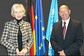 H.E. Irving Levance Secretary-General with MEP Kristiina Ojuland.jpg