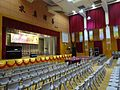HK 福建中學 FSS FKSSch Fukien Secondary School grand hall interior row grey plastic chairs Sept 2016 DSC 05.jpg