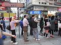 HK Yaumatei Nathan Road near 碧街 Pitt Street bus stop 下班時間 evening visitors.jpg