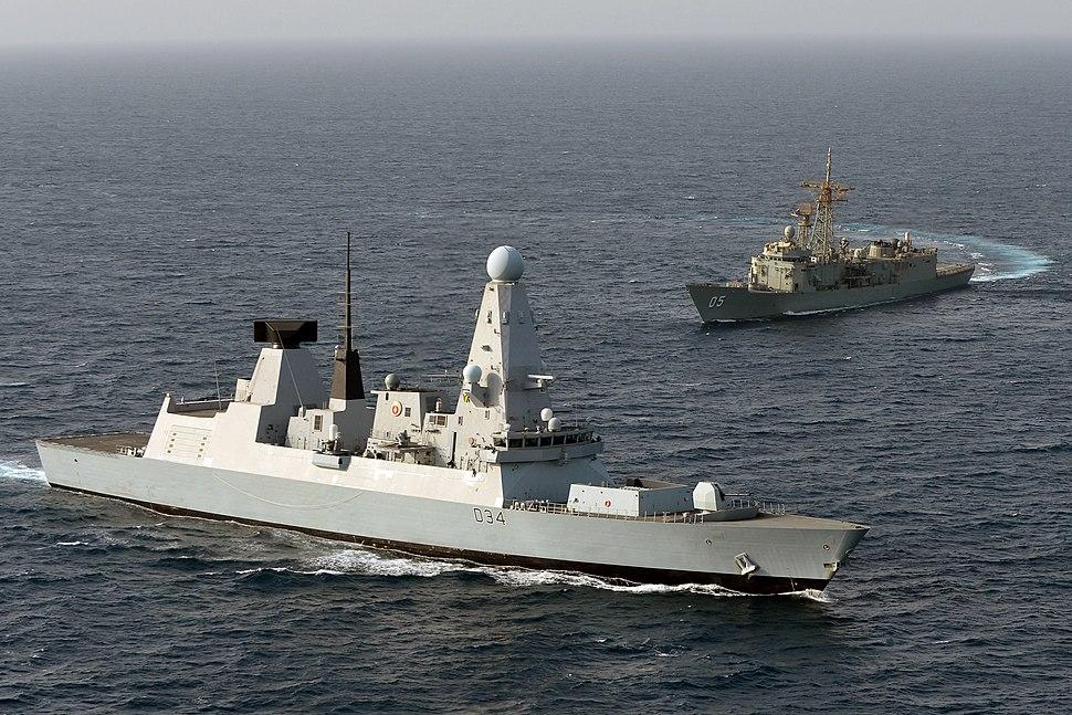 HMS Diamond with HMAS Melbourne MOD 45154685
