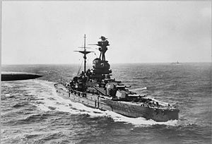 HMCS Ypres - HMS Revenge underway at sea