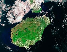 Vue satellite de Hainan.