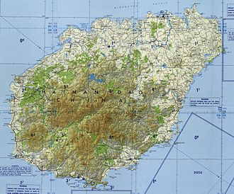 Hainan - Topographical map