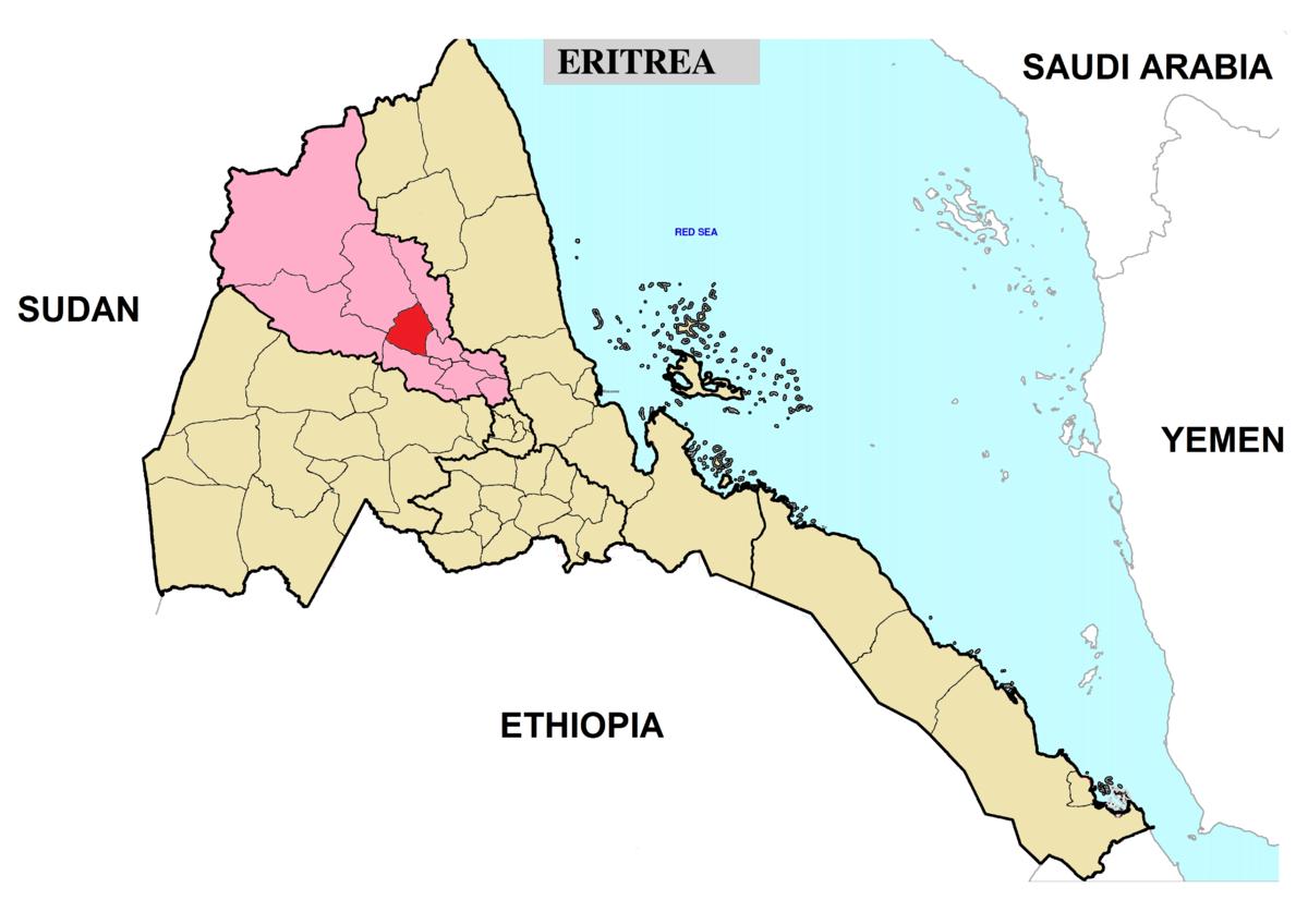 Hamelmalo Subregion Wikipedia - Eritrea time zone map