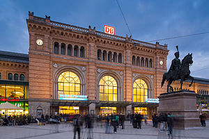 Hannover main station Ernst-August-Platz Mitte Hannover Germany 01.jpg