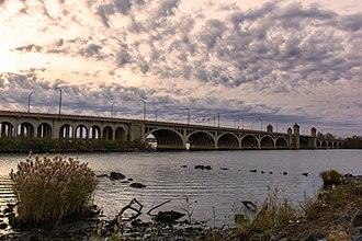 Hanover Street Bridge - View of the bridge facing northwest, from West Covington Park