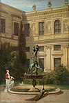 Hans von Marées - Courtyard with the Grotto in the Munich Royal Residence - WGA14058.jpg