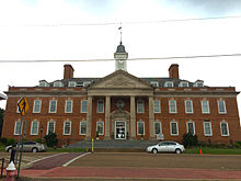 Hardin County, Tennessee courthouse in Savannah, Tennessee.jpg