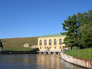 Hardy Dam Dam in Big Prairie Township, Newaygo County, Michigan