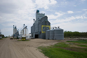 Harlow, North Dakota - The grain elevator in Harlow