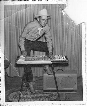 Eufaula, Oklahoma - Harmon Davis playing steel guitar