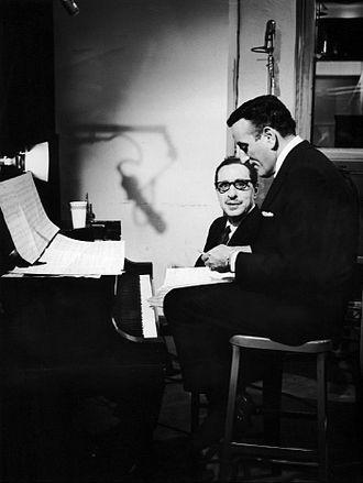 Tony Bennett - Bennett (right) with composer Harold Arlen, rehearsing for the television program The Twentieth Century in 1964
