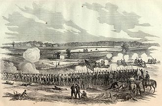 Kentucky in the American Civil War - The Battle of Perryville battlefield as depicted in Harper's Weekly, November 1, 1862