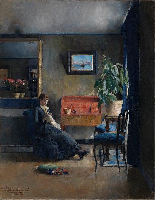 Harriet Backer - Blue Interior - Google Art Project