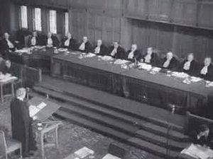 Corfu Channel case - Sir Hartley Shawcross addressing the Court