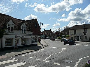 Liphook - Image: Haslemere Road and Portsmouth Road mini roundabout in Liphook, Hampshire, England 3