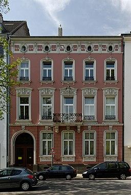 Haus Wasserstrasse 12 in Duesseldorf-Unterbilk, von Osten