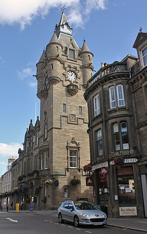 Hawick - Hawick Town Hall, on High Street by James Campbell Walker.