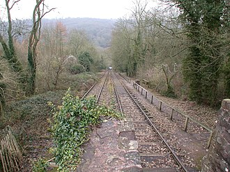 Shropshire Canal - Looking down the Hay Inclined Plane