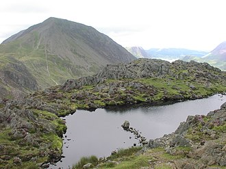 Haystacks (Lake District) - Summit of Haystacks with High Crag behind