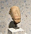 Head of a royal figure wearing the blue crown of Egypt, from Amarna, Egypt, 1351-1334 BCE. Neues Museum.jpg