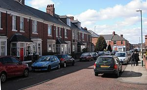 Hebburn (TV series) - The exterior location of the Pearsons' house on Park Road, Hebburn, South Tyneside
