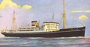 Heian Maru (1930) - Heian Maru, NYK lines postcard, 1930s