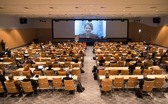 World NGO Day - Helen Clark, 8th Administrator of the United Nations Development Programme (UNDP) congratulated with the World NGO Day  through her video speech, Finland 2014.