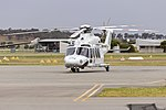 Helicorp (VH-TJI) Leonardo-Finmeccanica AW139 at Wagga Wagga Airport.jpg