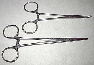 Hemostat - Hemostats, curved and straight tip