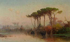 Henryk Cieszkowski - Image: Henryk Cieszkowski Pejzaż z piniami 1884